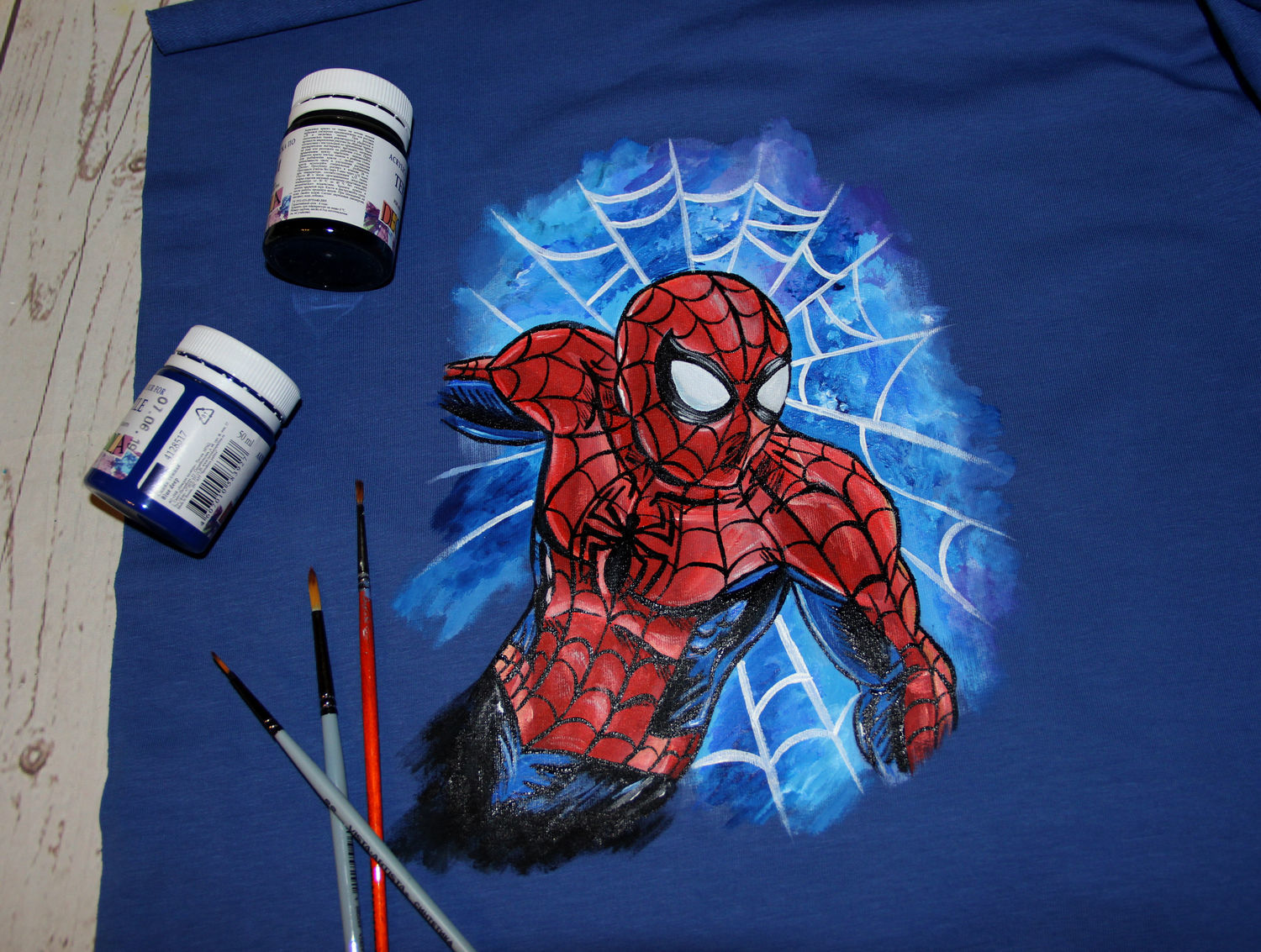 Sweatshirt cardigan children's sweatshirt with a picture of spider-Man hand painted, Sweaters and jumpers, St. Petersburg,  Фото №1