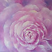 Pictures handmade. Livemaster - original item Floral original oil painting on canvas The Pink Peony. Handmade.