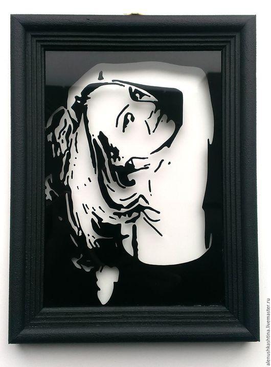 Фотокартины ручной работы. Ярмарка Мастеров - ручная работа. Купить Рамка «Юлия». Handmade. Чёрно-белый, черный, портрет по фото