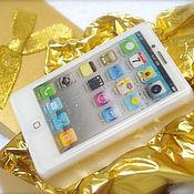 Косметика ручной работы. Ярмарка Мастеров - ручная работа Мыло iPhone золотой в коробке, парфюмированный подарок девушке/мужчине. Handmade.