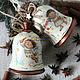"""Новый год 2017 ручной работы. Ярмарка Мастеров - ручная работа. Купить """"Забавные ангелы"""" (деревянные колокольчики). Handmade. Колокольчик, ангелочки"""