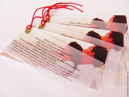 Свадебные открытки ручной работы. Ярмарка Мастеров - ручная работа. Купить Приглашение на свадьбу с вашим фото. Handmade. Белый, люверсы