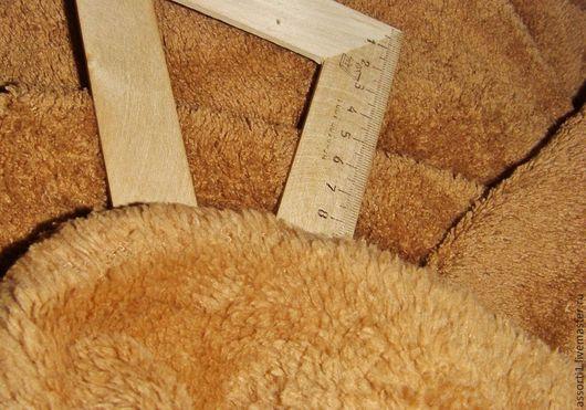 Куклы и игрушки ручной работы. Ярмарка Мастеров - ручная работа. Купить Велсофт/плюш для мишек, собачек, барашков (коричневый цвет).. Handmade.
