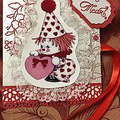 Открытки ручной работы. Ярмарка Мастеров - ручная работа Поздравительная открытка ручной работы. Handmade.