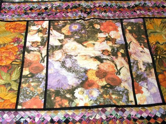 Текстиль, ковры ручной работы. Ярмарка Мастеров - ручная работа. Купить Покрывало  Монмартр. Handmade. Сиреневый, ренуар, кабаре