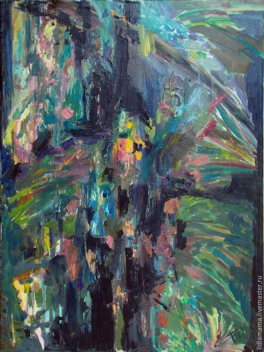 Абстрактная картина. Темный лес работа Ольги Петровской-Петовраджи