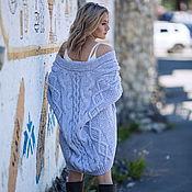 Одежда handmade. Livemaster - original item cardigans: Knitted grey cardigan oversize for women. Handmade.