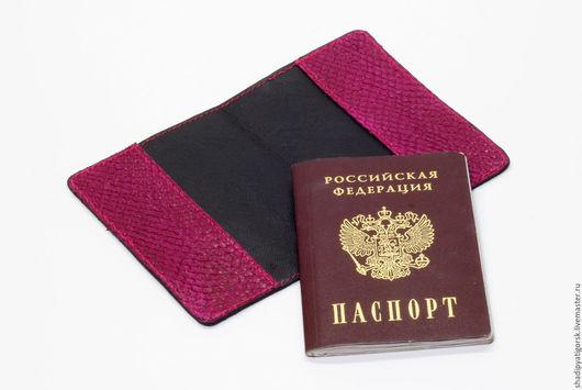 Обложки на паспорт из натуральной кожи рыб