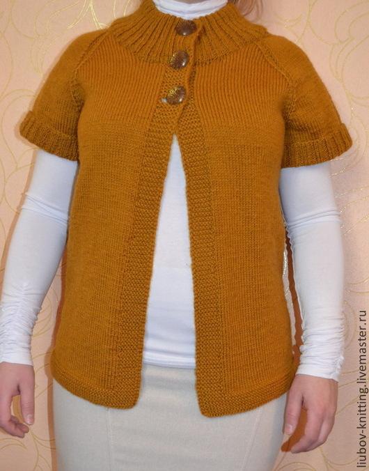 Пиджаки, жакеты ручной работы. Ярмарка Мастеров - ручная работа. Купить Вязаный жакет для девушки. Handmade. Рыжий, Жакет вязаный