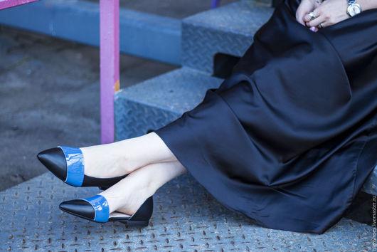 """Обувь ручной работы. Ярмарка Мастеров - ручная работа. Купить Балетки """"Классик"""". Handmade. Черный, балетки, обувь ручной работы"""