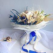 Свадебные букеты ручной работы. Ярмарка Мастеров - ручная работа Букет невесты. Свадебный букет в морском стиле.. Handmade.