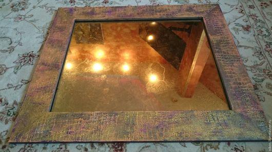 Зеркала ручной работы. Ярмарка Мастеров - ручная работа. Купить Винтажное этно зеркало из потали и рама ручной работы. Handmade.