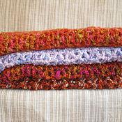 Аксессуары ручной работы. Ярмарка Мастеров - ручная работа Шарфы вязаные крючком меланжевые - разноцветные на выбор. Handmade.