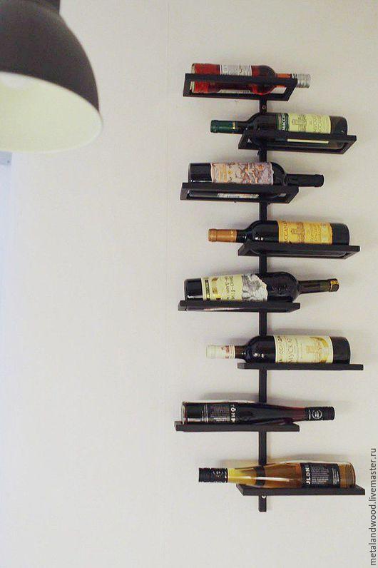 Мебель ручной работы. Ярмарка Мастеров - ручная работа. Купить Полка для вина LOFT. Handmade. Комбинированный, loft, мебель лофт