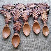 "Сувениры и подарки handmade. Livemaster - original item The set of cherry wood spoons ""The children of the oak tree"". Handmade."