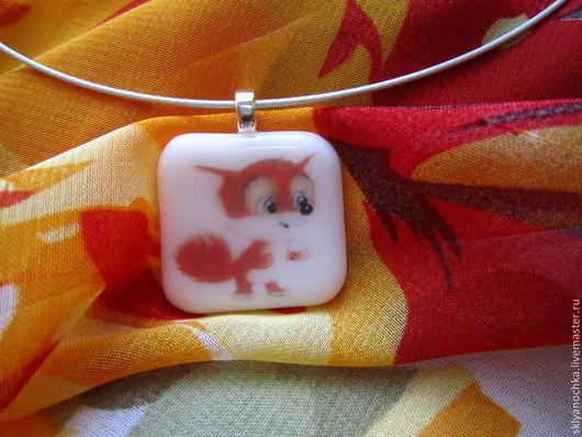 """Кулоны, подвески ручной работы. Ярмарка Мастеров - ручная работа. Купить Кулончик """"Весёлый лисёнок"""". Handmade. Рыжий, лисенок"""