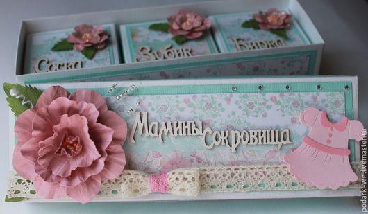 Подарки для новорожденных, ручной работы. Ярмарка Мастеров - ручная работа. Купить Мамины сокровища (1). Handmade. Бледно-розовый, открытка