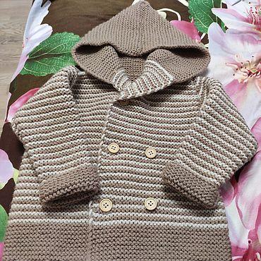 Одежда ручной работы. Ярмарка Мастеров - ручная работа Кофты: Кардиган с капюшоном. Handmade.