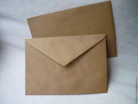 Открытки и скрапбукинг ручной работы. Ярмарка Мастеров - ручная работа. Купить Крафт-конверт 162х229 мм (с5) в наличии. Handmade.