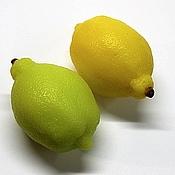 Мыло Спелый Лимон 3D, сувенирное мыло ручной работы
