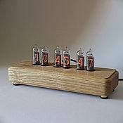 """Часы ламповые ручной работы. Ярмарка Мастеров - ручная работа Ламповые часы """"Classic"""" (ясень) + коробка. Handmade."""