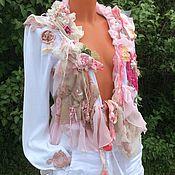 """Одежда ручной работы. Ярмарка Мастеров - ручная работа Кофточка """" Нежность розового"""".   В стилях Шебби Шик, Бохо Шик.. Handmade."""