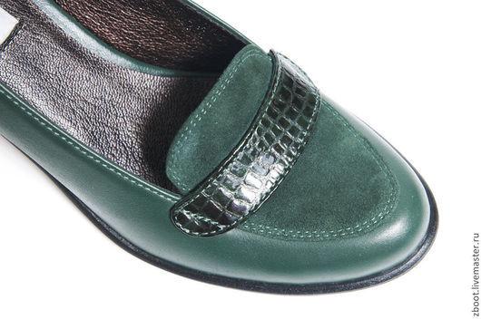 Обувь ручной работы. Ярмарка Мастеров - ручная работа. Купить Туфли кожаные Croci. Handmade. Тёмно-зелёный, Обувь из кожи