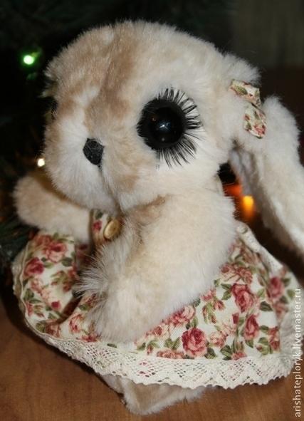 Мишки Тедди ручной работы. Ярмарка Мастеров - ручная работа. Купить Рождественская заюшка. Handmade. Белый, тедди, заяц, реснички