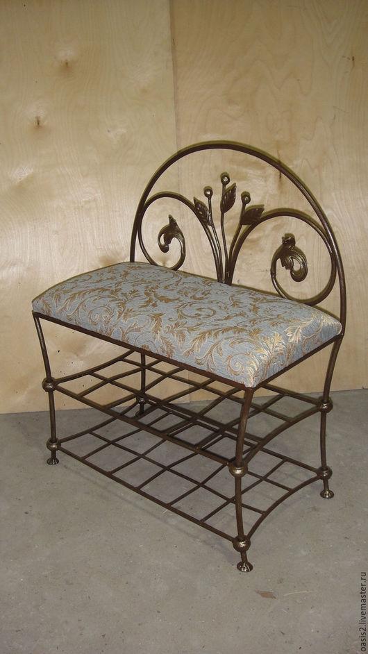 """Мебель ручной работы. Ярмарка Мастеров - ручная работа. Купить Банкетка """"Цветы запоздалые"""". Handmade. Разноцветный, кухонная мебель, сталь"""