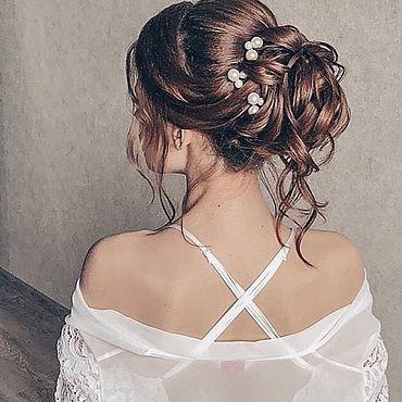 Свадебный салон ручной работы. Ярмарка Мастеров - ручная работа Свадебные шпильки. Handmade.