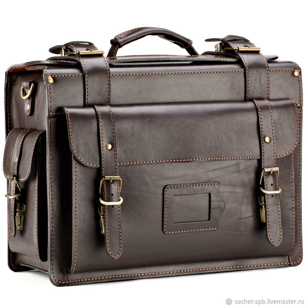 ad3853d434f0 Мужские сумки ручной работы. Ярмарка Мастеров - ручная работа. Купить  Кожаный портфель-кофр ...