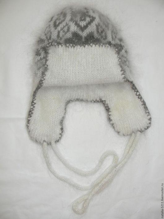 Шапки ручной работы. Ярмарка Мастеров - ручная работа. Купить Двойные шапки с маленькими ушками. Handmade. Чёрно-белый