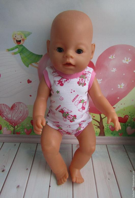 Одежда для кукол ручной работы. Ярмарка Мастеров - ручная работа. Купить На Заказ Трусики и маечка Маусы  для Беби Бон. Handmade.