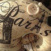 """Куклы и игрушки ручной работы. Ярмарка Мастеров - ручная работа Тильда улитка """"Париж"""" - интерьерная игрушка / игольница. Handmade."""