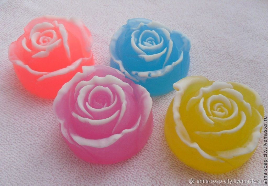 Silicone mold for soap and candles ' rose', Form, Arkhangelsk,  Фото №1