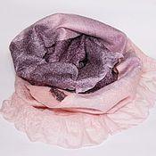 Аксессуары ручной работы. Ярмарка Мастеров - ручная работа шарф валяный Жемчужные переливы. Handmade.