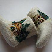 """Обувь ручной работы. Ярмарка Мастеров - ручная работа Валенки детские """"Зима"""". Handmade."""
