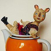 Куклы и игрушки ручной работы. Ярмарка Мастеров - ручная работа кукла кофейная зайчишка Тути. Handmade.