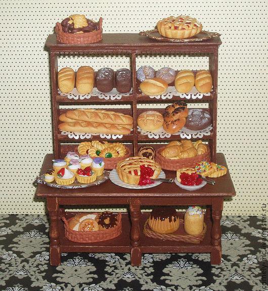 """Кукольный дом ручной работы. Ярмарка Мастеров - ручная работа. Купить Румбокс """"Хлебная лавка"""". Handmade. Румбокс, ручная работа"""
