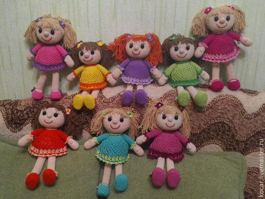 Человечки ручной работы. Ярмарка Мастеров - ручная работа. Купить Кукла, игрушка вязаная крючком. Handmade. Кукла, девочка