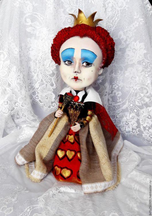 Куклы и игрушки ручной работы. Ярмарка Мастеров - ручная работа. Купить Красная королева.. Handmade. Ярко-красный, акриловые краски