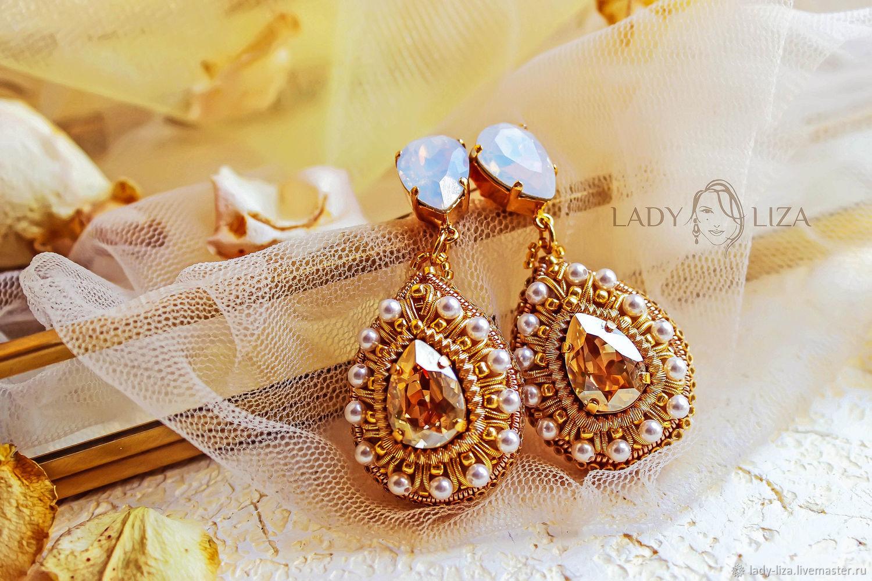5a99064fb Wedding Jewelry handmade. Livemaster - handmade. Buy Wedding earrings with  Swarovski crystals and beads ...