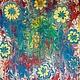 """Шали, палантины ручной работы. Ярмарка Мастеров - ручная работа. Купить Платок-Эбру """"Цветы весной"""". Handmade. Разноцветный"""