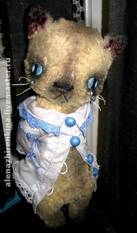 Мишки Тедди ручной работы. Ярмарка Мастеров - ручная работа. Купить Плакса КОТЯ. Handmade. Кот, коллекционные игрушки, хлопок