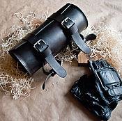 Сумки и аксессуары ручной работы. Ярмарка Мастеров - ручная работа Кожаный кофр для мотоцикла, кожаная сумка. Handmade.