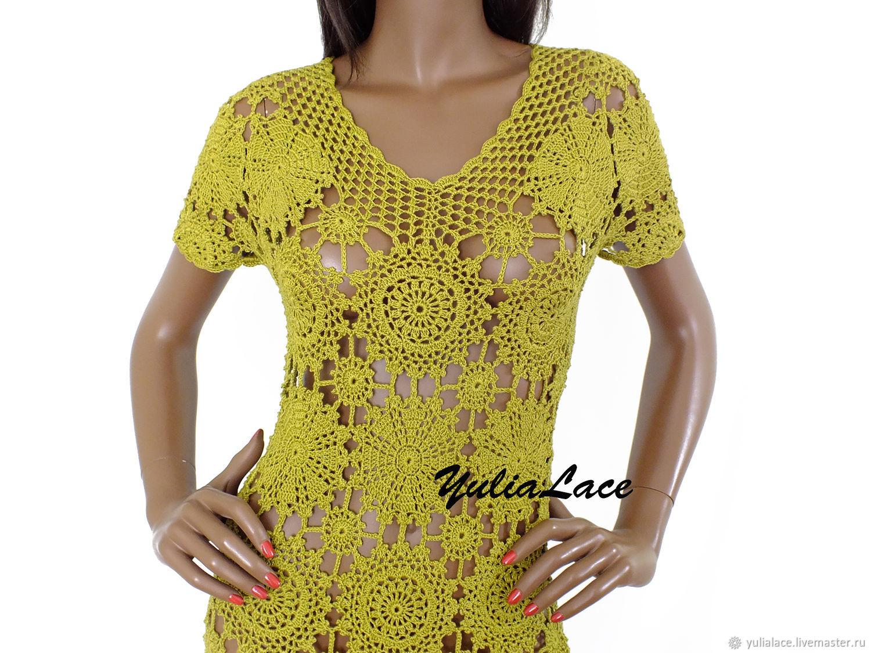 Платья ручной работы. Ярмарка Мастеров - ручная работа. Купить Вязаное платье. Handmade. Платье, вязаная туника, стильное платье
