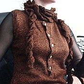 """Одежда ручной работы. Ярмарка Мастеров - ручная работа Шоколадная классика"""" жилет ручной работы. Handmade."""