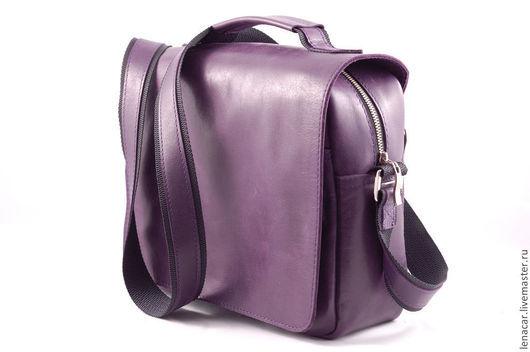 Мужские сумки ручной работы. Ярмарка Мастеров - ручная работа. Купить Мужская кожаная сумка 183. Handmade. Мужская сумка