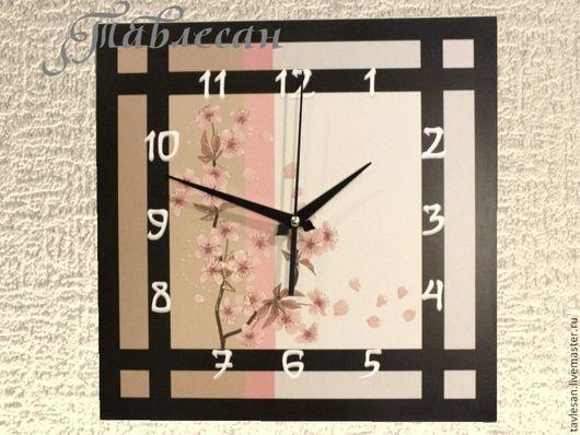 """Часы для дома ручной работы. Ярмарка Мастеров - ручная работа. Купить Часы настенные """"Сакура"""" в японском стиле. Handmade."""