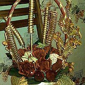 """Сувениры и подарки ручной работы. Ярмарка Мастеров - ручная работа Букет из конфет """"Крепкий кофе"""". Handmade."""